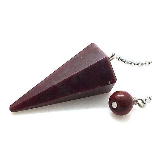 Red Jasper/Quartz Pendulum • 7.4 grams ~ 34x18mm