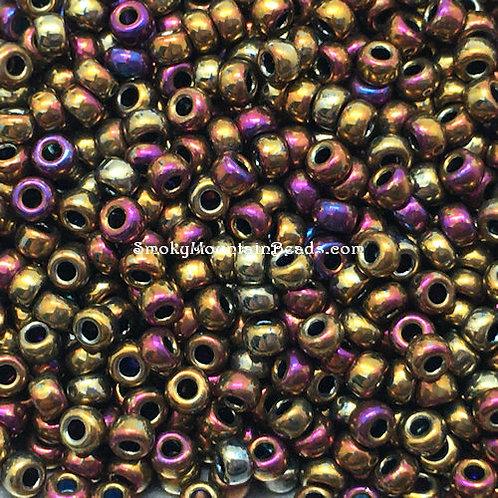 11-188 Metallic Purple Gold Iris 11/0 Miyuki Seed Beads | SmokyMountainBeads.com