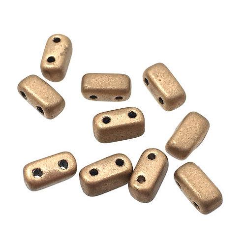 Matte Metallic Goldenrod • Bricks • Czech • 3x6mm • 365-36-MK0173 | Smoky Mountain Beads
