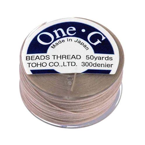 Beige • One-G® Nylon Thread | SmokyMountainBeads.com