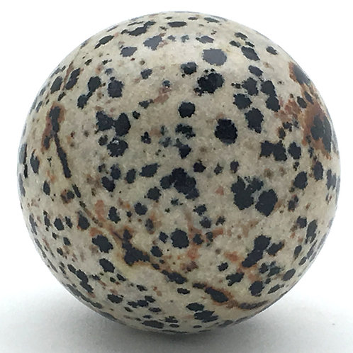 Dalmatian Stone Sphere • Mexico • 84.1 grams ~ 39.7mm