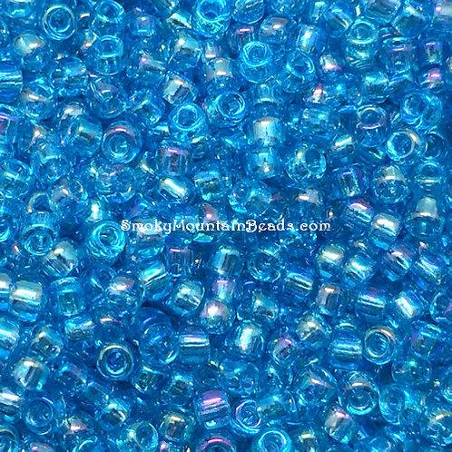 11-260 Transparent Aqua AB 11/0 Miyuki Seed Beads | SmokyMountainBeads.com