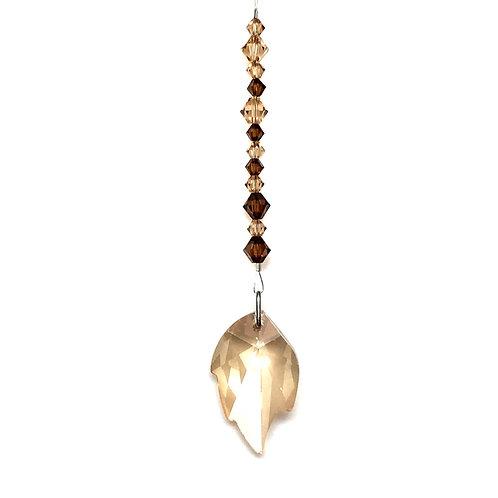 "Light Silk Leaf Suncatcher • Swarovski • 5 1/4"" • 05600SC-6735-261 | SmokyMountainBeads.com"