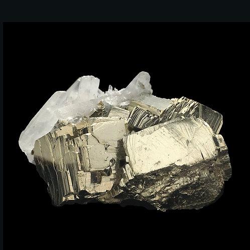 Cubic Pyrite Quartz Points Druzy • Peru • 57.2 grams ~ 45x35x26mm