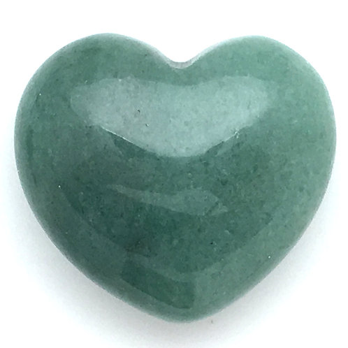 Green Aventurine Heart • Brazil • 57.7 grams ~ 45x40x22mm