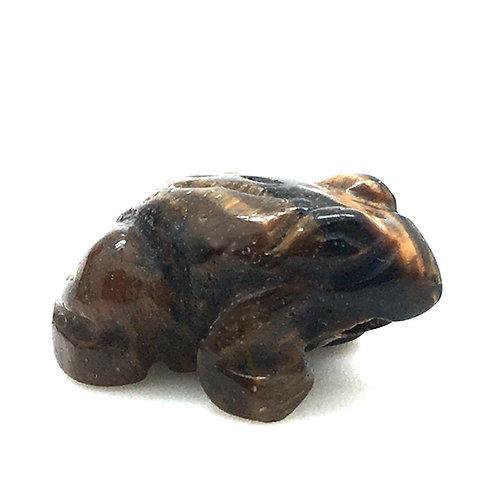 Golden Tiger Eye Frog • 4.5 grams ~ 21x20x11mm • 87100FROG-TEG-4-5 | SmokyMountainBeads.com