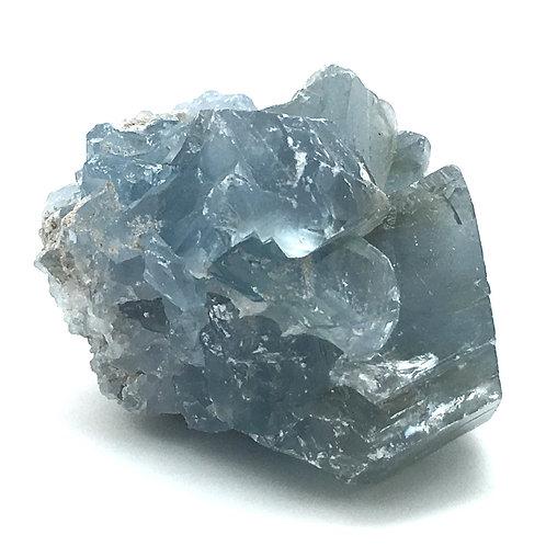 Celestine Cluster • Madagascar •  156.9 grams ~ 61x53x38mm