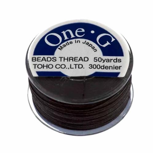 Brown • One-G® Nylon Thread   SmokyMountainBeads.com