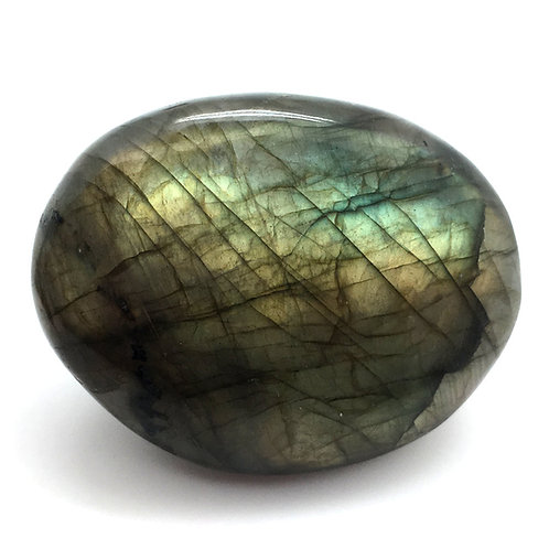 Labradorite Palm Stone • Brazil • 65.9 grams ~ 56x44x17mm