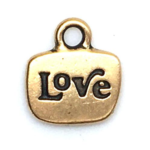 Inspiration Love/Heart Charm • 14x13mm • 94-2244-26   SmokyMountainBeads.com