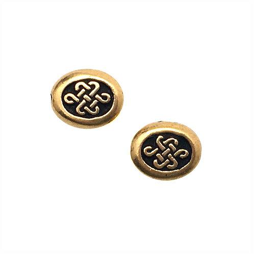 Celtic Endless Knot Beads • 9x8x4mm • 94-5541-26 | SmokyMountainBeads.com