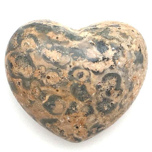 Leopard Skin Jasper Heart • Mexico • 55.6 grams ~ 46x40x26mm