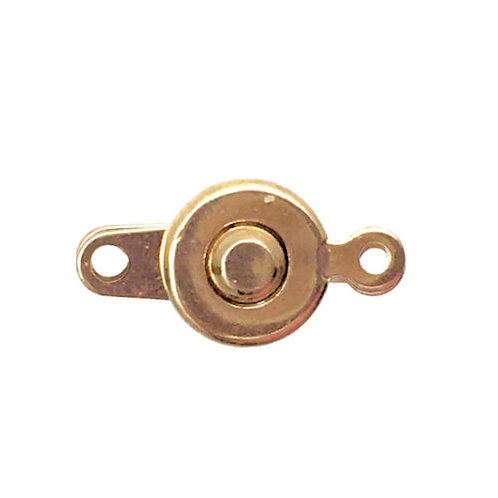 Button Snap Clasp • 7mm • Gold-Plated • 44BTN-107-25 | Smoky Mountain Beads