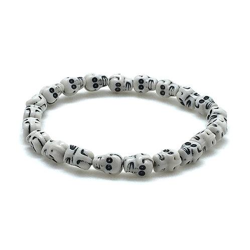 Skull Bracelet • 8-inch • BR-196100ACR-1007 | Smoky Mountain Beads