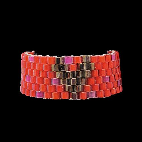 Heart Ring • Hand-Stitched • Size 6 • RG01-CS-HEART   SmokyMountainBeads.com