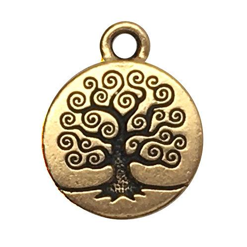 Tree of Life Charm • 19x16mm • 94-2303-26 | SmokyMountainBeads.com