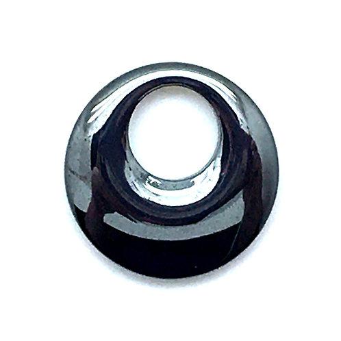 Hematite Round Go-Go Donut • 24x5mm • 174100HMT-R2405R | smokymountainbeads.com