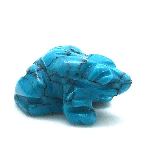 Howlite Frog • 4.0 grams ~ 23x20x11mm • 87100FROG-HoW-4-0B | SmokyMountainBeads.com
