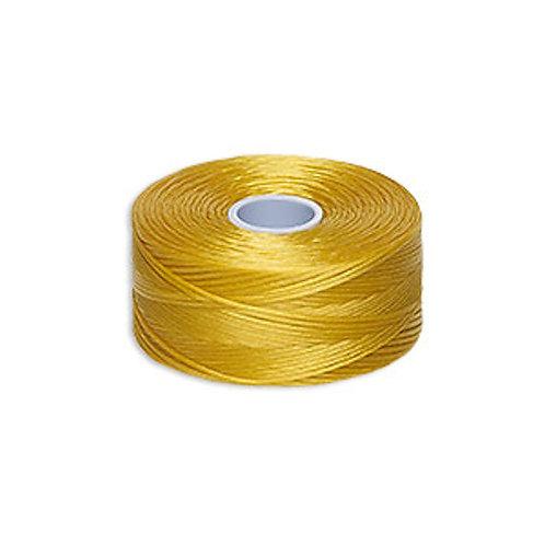 Golden Yellow • C-lon Nylon Thread   SmokyMountainBeads.com