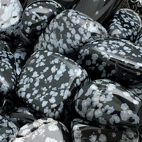 Snowflake Obsidian Tumbles • Utah • Medium