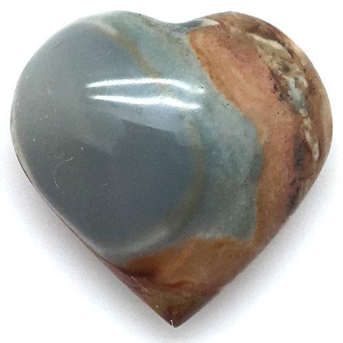 Polychrome Desert Jasper Heart • Madagascar • 24.7 grams ~ 37x36x16mm