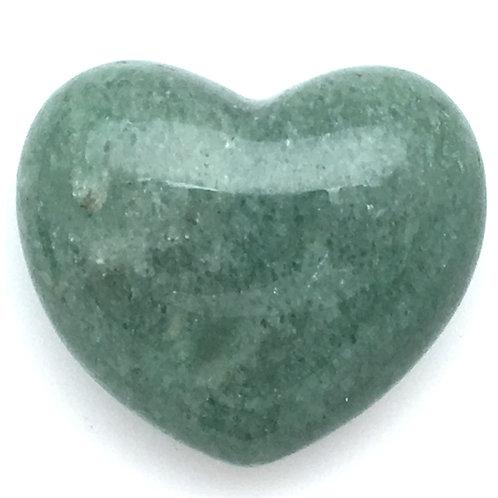 Green Aventurine Heart • Brazil • 57.0 grams ~ 46x40x21mm