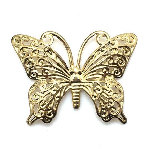 Butterfly Filigree Charm • 35x26mm • 26100MTL-B3526-25 | SmokyMountainBeads.com