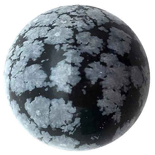 Snowflake Obsidian Spheres • 20mm
