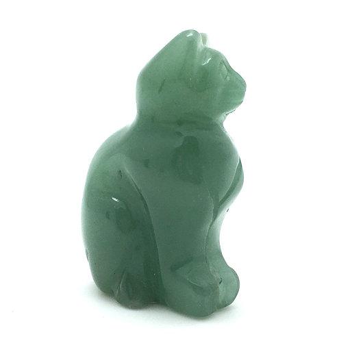 Green Aventurine Cat • Brazil • 54.1 grams ~ 52x34x21mm 87100CAT-AVG-54-1