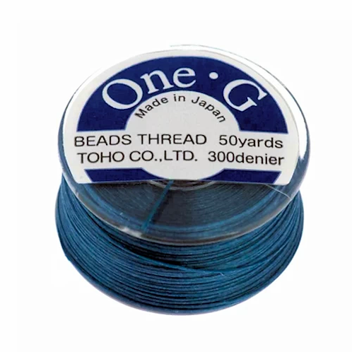 Blue • One-G® Nylon Thread | SmokyMountainBeads.com