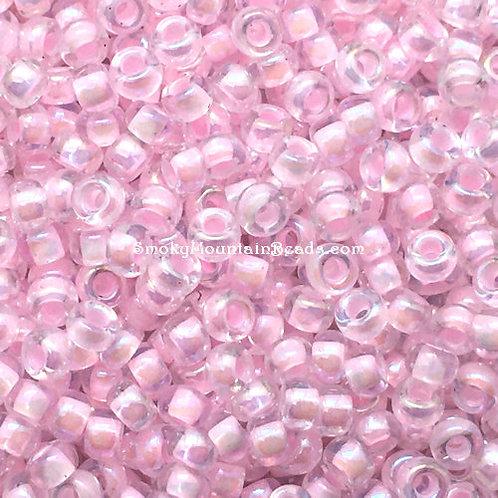 11-272 Pink-Lined Crystal AB 11/0 Miyuki Seed Beads | SmokyMountainBeads.com