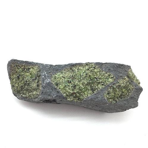 Peridot (Olivine in Basalt) • Arizona • 898.4 grams ~ 155x67x50mm