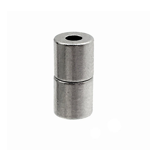 Magnetic Clasp • Tube • 10x5mm • Silver-Plated • 44MAG-172-1005-11 | Smoky Mountain Beads