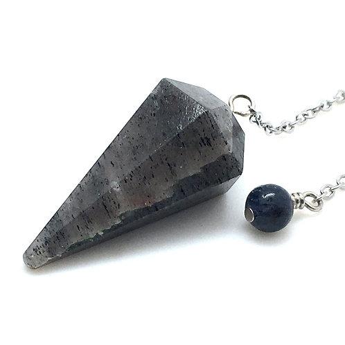 Iolite (Cordierite) Pendulum • 8.5 grams ~ 34x18mm