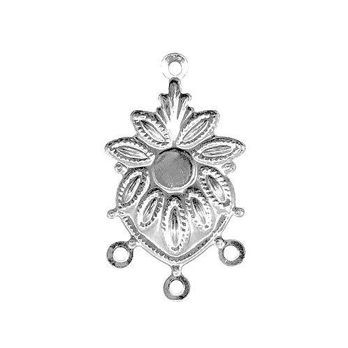Sunflower Chandelier • 25x14mm • Silver-Plated • 41-372514-11   SmokyMountainBeads.com