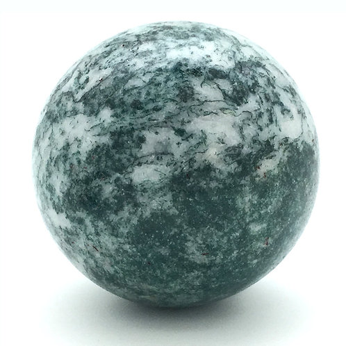 Tree Agate Sphere • Vugs • Brazil • 153.3 grams ~ 49.3mm 70100ATR