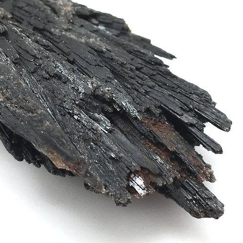 90100KYBBF Black Kyanite Fan 76.2 grams ~ 86x44x23mm