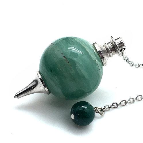 Green Aventurine Pendulum • 20.2 grams ~ 42x22mm  | SmokyMountainBeads.com