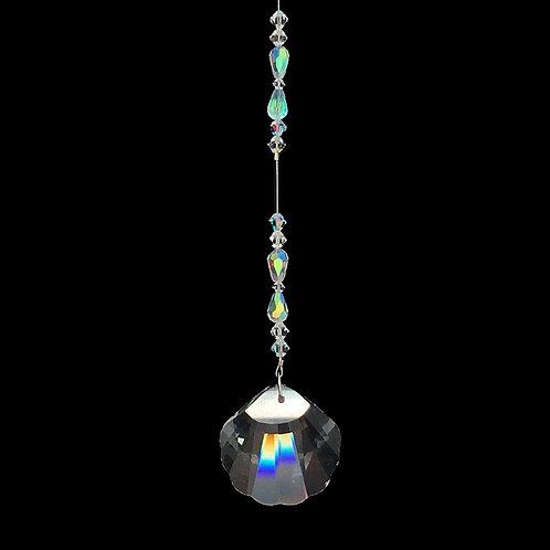 "Crystal Shell Suncatcher • Swarovski • 10 1/4"" • 05600SC-6723-001AB | SmokyMountainBeads.com"