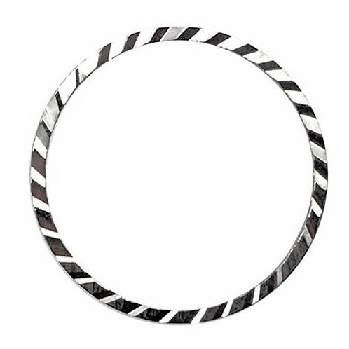 Link Round Engraved Edge • 16mm • Silver-Plated • 33LINK-701601-11 | SmokyMountainBeads.com