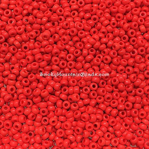 11-407 Opaque Vermilion Red 11/0 Miyuki Seed Beads | SmokyMountainBeads.com