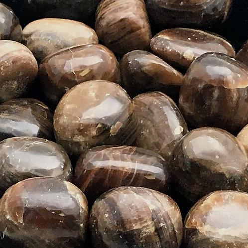 Brown Aragonite Tumbles • Peru • Medium