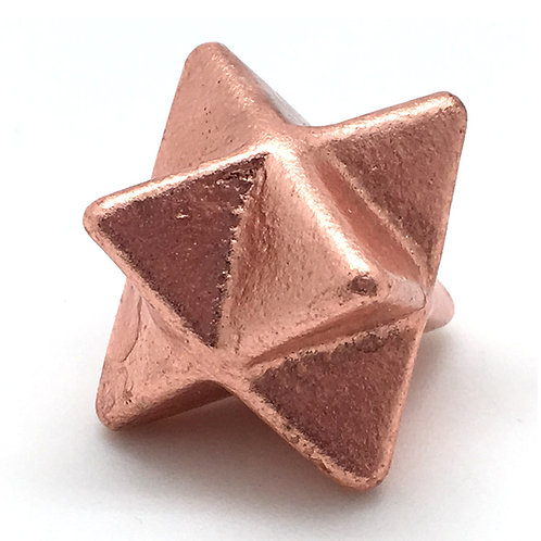 Solid Copper Merkaba • Michigan • 75.8 grams ~ 37mm
