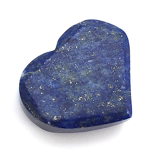 Lapis Lazuli Heart • Top Grade Drilled • Afghanistan • 10.5 grams ~ 27x23x10mm