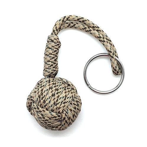 Monkey Fist Key Chain • KC-MKF-SN3-16   SmokyMountainBeads.com