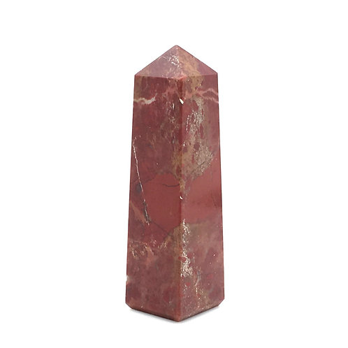 Brecciated Jasper Obelisk • India • 27.1 grams ~ 56x16x15mm