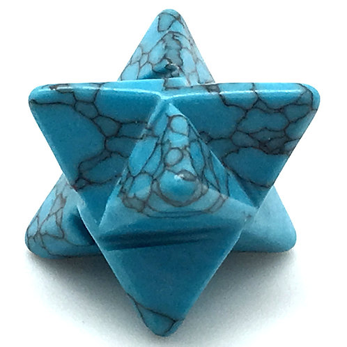 Howlite Merkaba • USA • 7.6 grams ~ 28x18mm