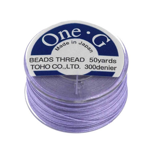 Light Lavender • One-G® Nylon Thread | SmokyMountainBeads.com