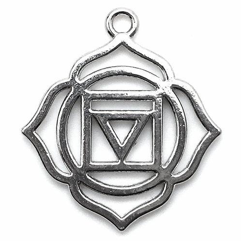 Crown ~ Sahasrara (I Am) Charm • 30x23mm • 26100MTL-34007-12 | Smoky Mountain Beads