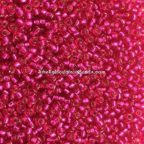 11-40 Silver-Lined Dark Fuchsia 11/0 Seed Beads | SmokyMountainBeads.com